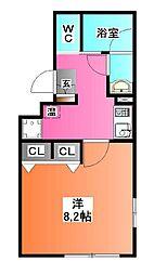 東京都北区東十条5の賃貸マンションの間取り