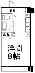 仙台市営南北線 広瀬通駅 徒歩7分の賃貸マンション 6階1Kの間取り