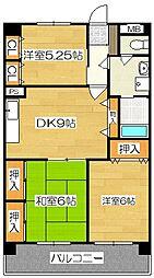 新栄二日市ハイツ[313号室]の間取り