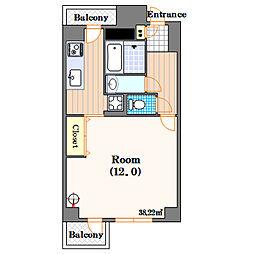 ルネシアガーデン[5階]の間取り