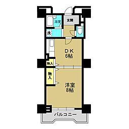 高見フローラルタウン七番街15号棟[6階]の間取り