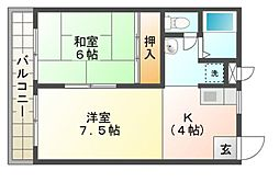 セイコウマンション[2階]の間取り