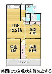 ユアサハイム鏡池マンション[4階]の間取り