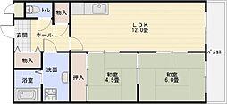 柏原ファミリーハイツ[5階]の間取り