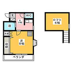 ホワイトパレス城東8[1階]の間取り