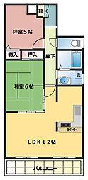 プレステージ西神戸[303号室]の間取り