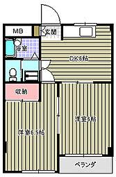 ポインセチア吉岡[102号室]の間取り