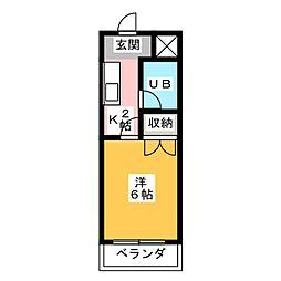 ハイツヤマダ[1階]の間取り