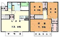 D-room福間[2階]の間取り