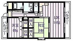 サニープレイス・アオヤマ[3階]の間取り