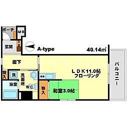 ロハス江坂[9階]の間取り