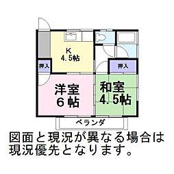 コーポむつみ[2階]の間取り