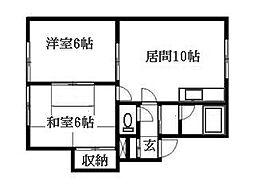 北海道札幌市豊平区月寒東二条18丁目の賃貸アパートの間取り
