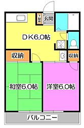 シティハイム栄コーポB[1階]の間取り
