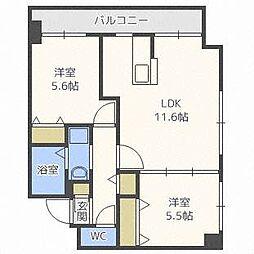 北海道札幌市白石区東札幌六条2丁目の賃貸マンションの間取り