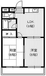 メゾン錦[1階]の間取り