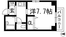 ギャレカワニシ[2階]の間取り