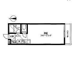 シダーハウス[203号室]の間取り