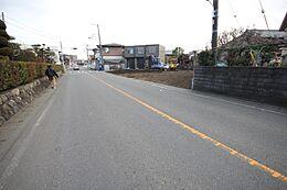 両面道路で暖かい陽射しが遮られることなく降り注ぎます。