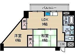 シャトー黒田ビル[4階]の間取り