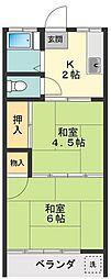 岡村荘[3号室]の間取り