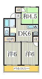 ドミールナカノ[2階]の間取り