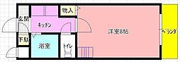 岩田町5 greens' mansion[206号室]の間取り