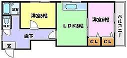 大阪府大阪市生野区田島1丁目の賃貸マンションの間取り