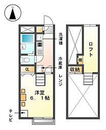 レオパレス城屋敷110[1階]の間取り