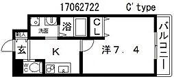 クローバーグランデ田辺駅前[6階]の間取り