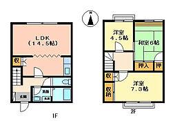 [テラスハウス] 岐阜県岐阜市瑞雲町3丁目 の賃貸【/】の間取り