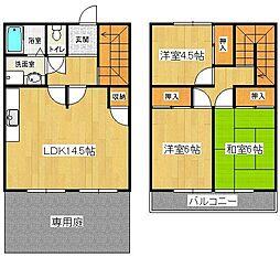 [タウンハウス] 福岡県久留米市東櫛原町 の賃貸【/】の間取り