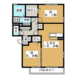 マリールタウンIII[1階]の間取り