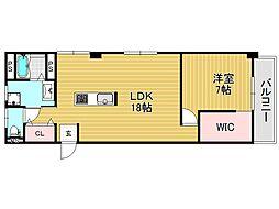 あづまマンション[2O3号室号室]の間取り