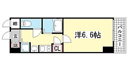 ロイヤルヒル神戸三宮Ⅱ[709号室]の間取り