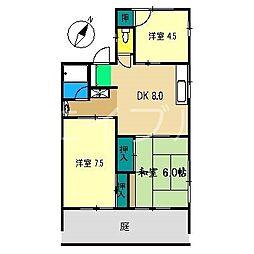 シティハイムナカムラ[1階]の間取り