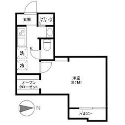 静岡県浜松市中区中沢町の賃貸マンションの間取り