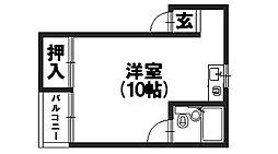 シャトー東和[202号室]の間取り