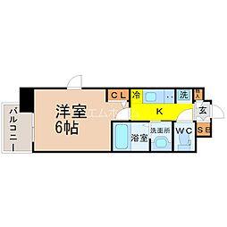エステムコート名古屋栄プレシャス[15階]の間取り