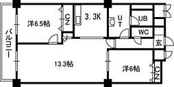 PRIME URBAN札幌 RIVER FRONT[2406号室]の間取り