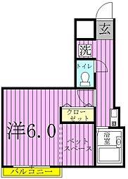 パレノーブル野田花井[303号室]の間取り
