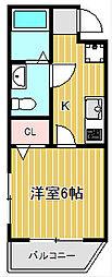 MK武蔵小杉[3階]の間取り