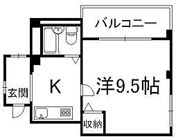 アートビル[3階]の間取り
