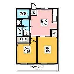 Sアパート[2階]の間取り