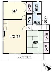 メゾン ソレイユ B棟[2階]の間取り
