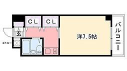 シェルフブラン南甲子園[4階]の間取り