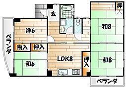 さくらビル[2階]の間取り