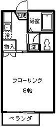 ネオファミーユ天台[205号室]の間取り