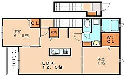 クレメントⅠ[2階]の間取り