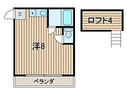 クローネ川島[2階]の間取り